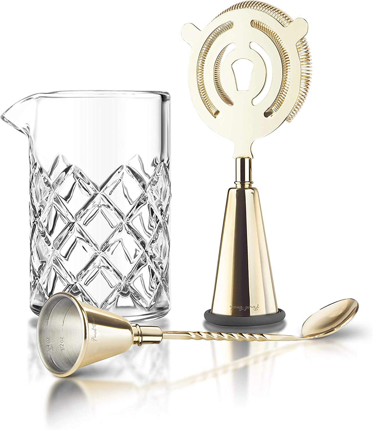 Final 限定タイムセール 毎週更新 Touch Multi-Function Brass Cocktail Bartender Mixing Set -
