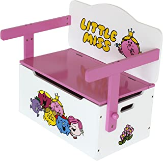 Little Miss Childrens Kids 3in1 Wooden Convertible Toy Box Bench  amp  Table Chair Kiddi Style