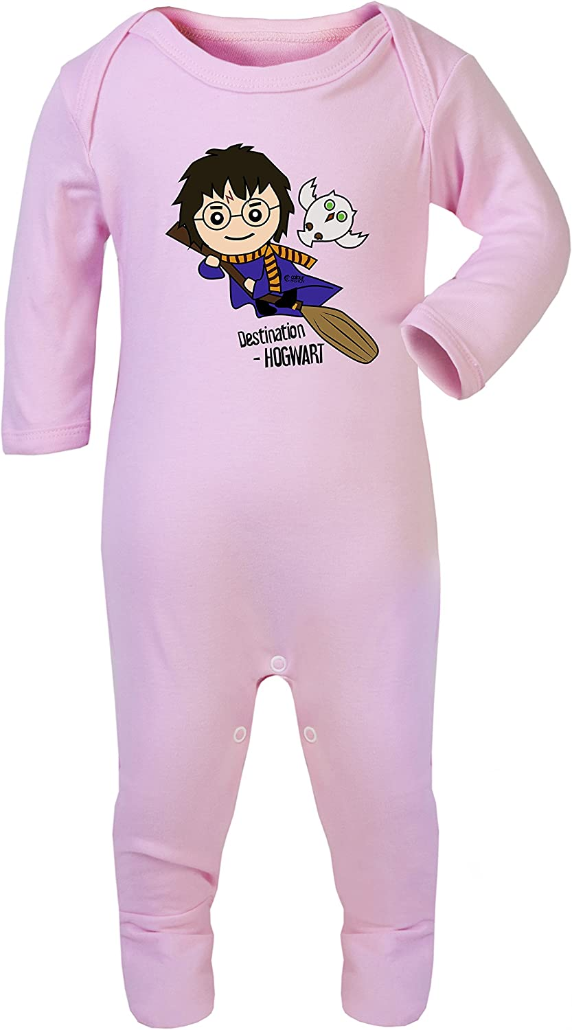 Cheap mail order Max 75% OFF sales Uncanny Harry Potter with Owl Footies Baby Hypoallergeni Pajamas