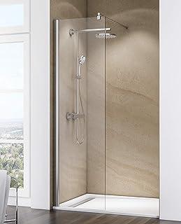 Porte PET Blanche /à rayures Marquage CE. Paroi douche enroulable Aluminium Blanc Extensible 60-90 cm large