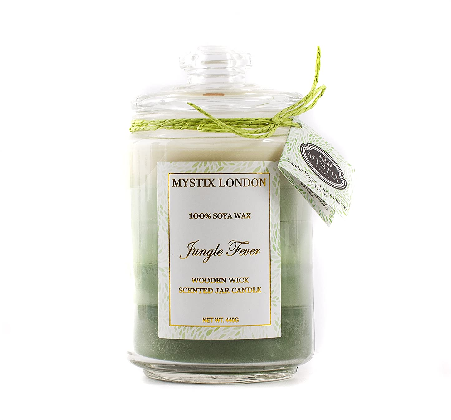 アルコール委任そんなにMystix London | Jungle Fever Wooden Wick Scented Jar Candle 440g