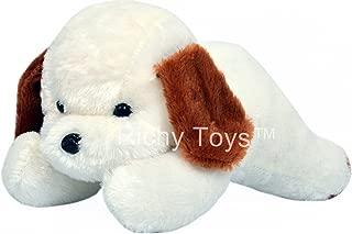 Babique Cute White Dog Animal Soft Push Toys for Kids Birthday Gift 26 cm