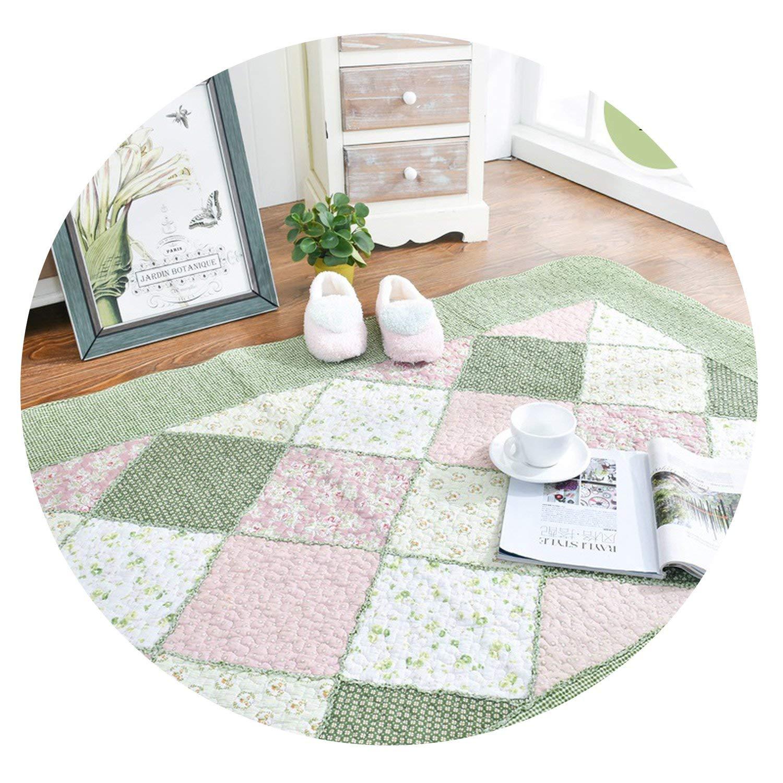 Vghi Bedroom Rugs Alfombra de algodón Puro Estilo Coreano con diseño de Flores Frescas, Lavable, Suave Alfombra Decorativa para Sala de Estar o Dormitorio: Amazon.es: Hogar