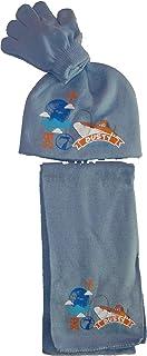 Disney Pixar Planes winterset sjaal-muts-handschoenen grijs, blauw of lichtblauw maat 52-54