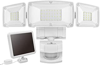 GLORIOUS-LITE Solar Security Light Outdoor, 1500LM Solar LED Motion Sensor Light with 3 Adjustable Head, 6000K, IP65 Waterproof Flood Light for Backyard, Pathway & Patio