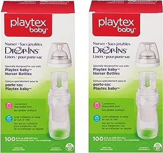 Playtex Drop-Ins Bottle Liners for Playtex Nurser Bottles, 8 oz, 100 ct