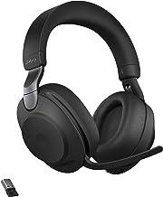 هدفون بی سیم Jabra Evolve2 85 UC با Link380a ، استریو ، هدست بلوتوث بی سیم سیاه و سفید برای تماس و موسیقی ، 37 ساعت عمر باتری ، هدفون پیشرفته لغو نویز