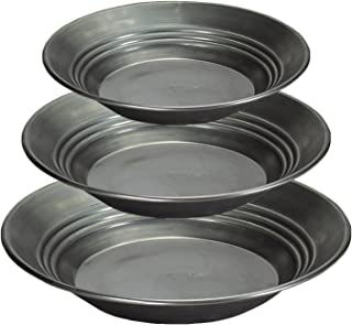 Estwing Solid Steel Gold Pans 3pc Set - 10-inch, 12-inch, 14-inch