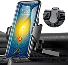 Ultra Stable Car Phone Mount, VICSEED Newest CD Slot & Air Vent Universal Cell Phone Holder for Car, Fit for iPhone 11 Pro Max Xs Xr X 8 7 6 Plus, Galaxy Note 10 S10+ S10 S9 S8, Google LG Etc.