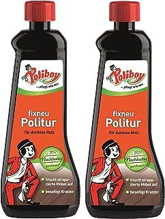 Poliboy - Fixneu Möbelpolitur Dunkel - für dunkle Oberflächen - beseitigt Kratzer und frischt auf! - 1000ml 2x500ml - Made in Germany