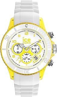 ICE-Watch - Montre Mixte - Quartz Analogique - Ice-Chrono Party - Margarita - Unisex - Cadran Blanc - Bracelet Silicone Bl...