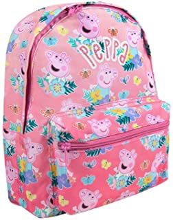 Peppa Pig All Over Print Children's Cute Pink Backpack with Adjustable Straps (One Size)