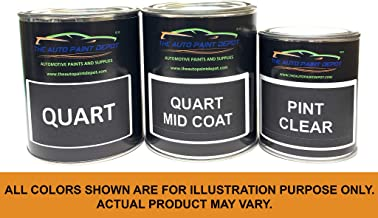 Touch Up Paint for GMC Acadia,Canyon,Envoy,Full Size Pick-Up,Jimmy,M Van,Savana,Sierra,Sonoma,Suburban,Terrain,Topkick,Yukon-Black (Wheel Color) WA8555 (All Year) 1 Quart with ClearCoat