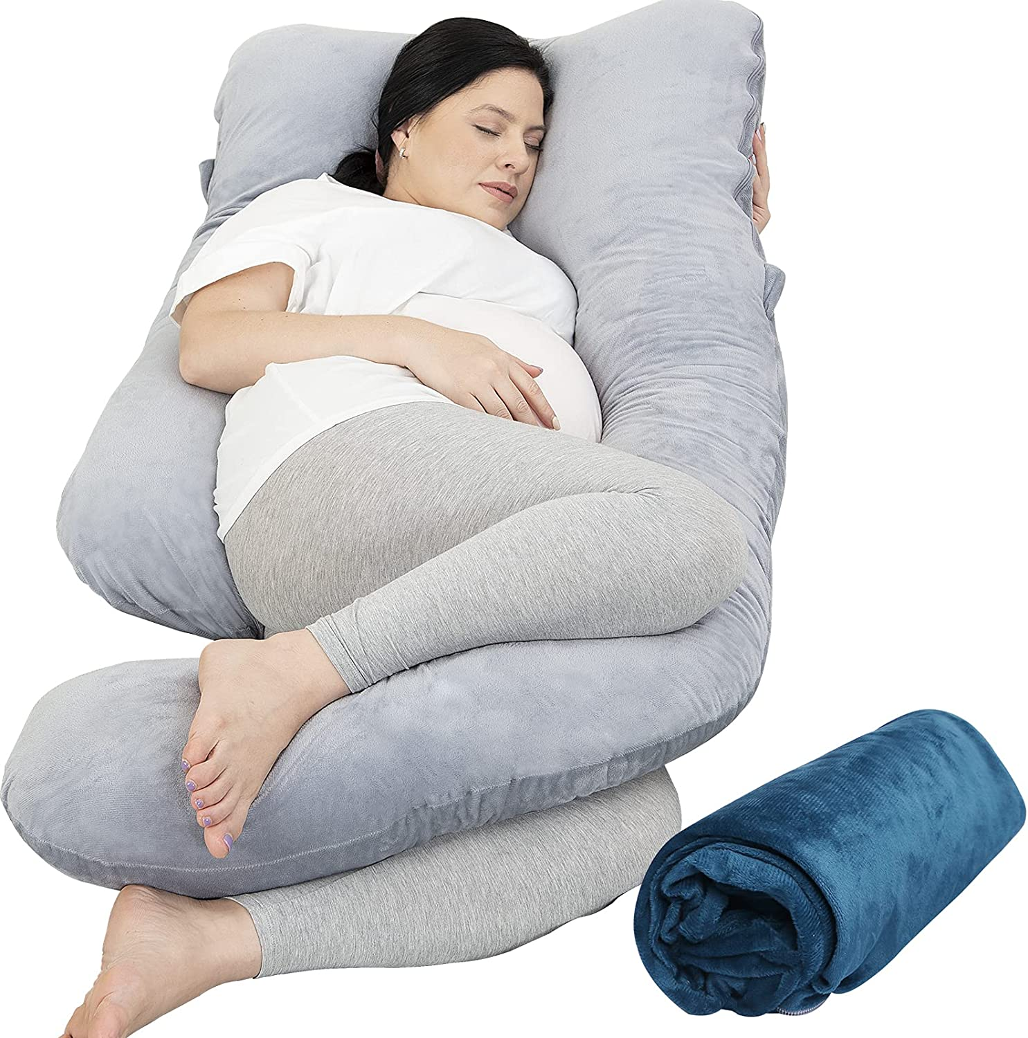 Pregnancy Pillow with 2 Velvet Pillo NEW before selling ☆ Rukoy Body Cover Max 44% OFF