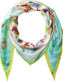 Echo Design - Beach Day Silk Diamond Scarf