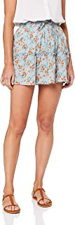 Toby Heart Ginger Women's Cecile Ruffle Skirt, Blue/Orange Flower