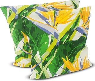 1buy3 Funda de cojín (50 x 50 cm, 100% algodón, con cremallera), diseño de flores