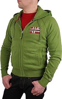 Chaqueta De Hombre Chaqueta Sudadera Con Capucha Verde Goryn Talla XS #RIF010