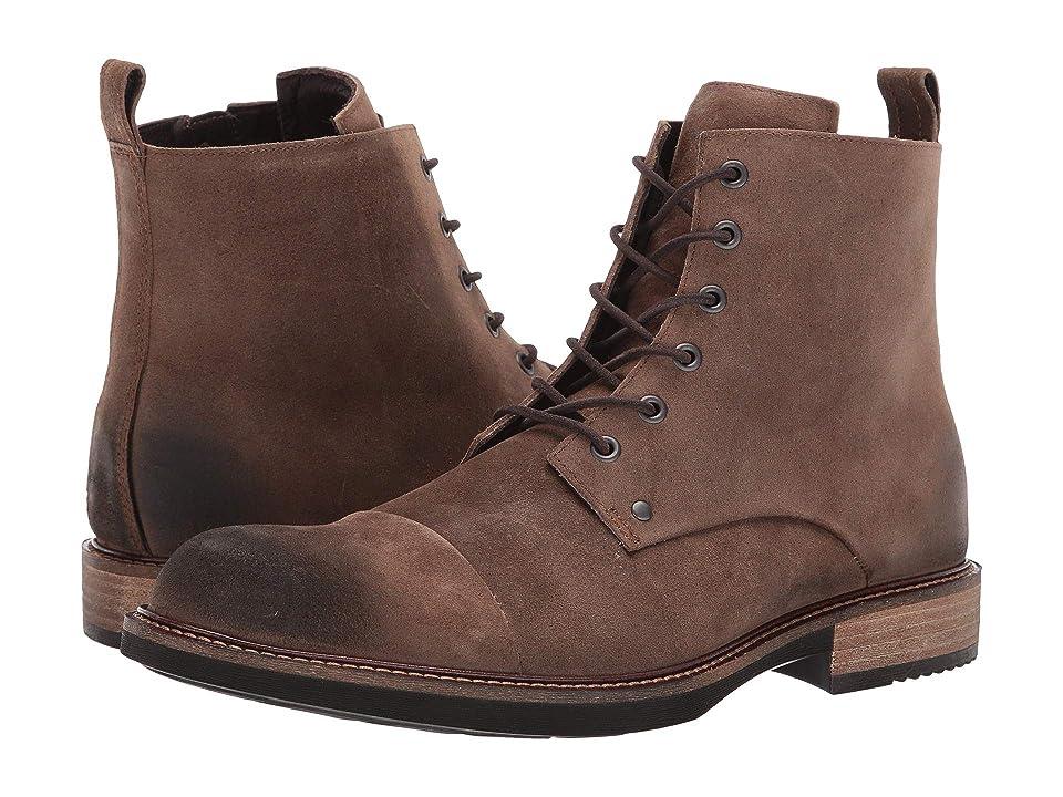 ECCO Kenton Artisan Lace Boot (Cocoa Brown) Men