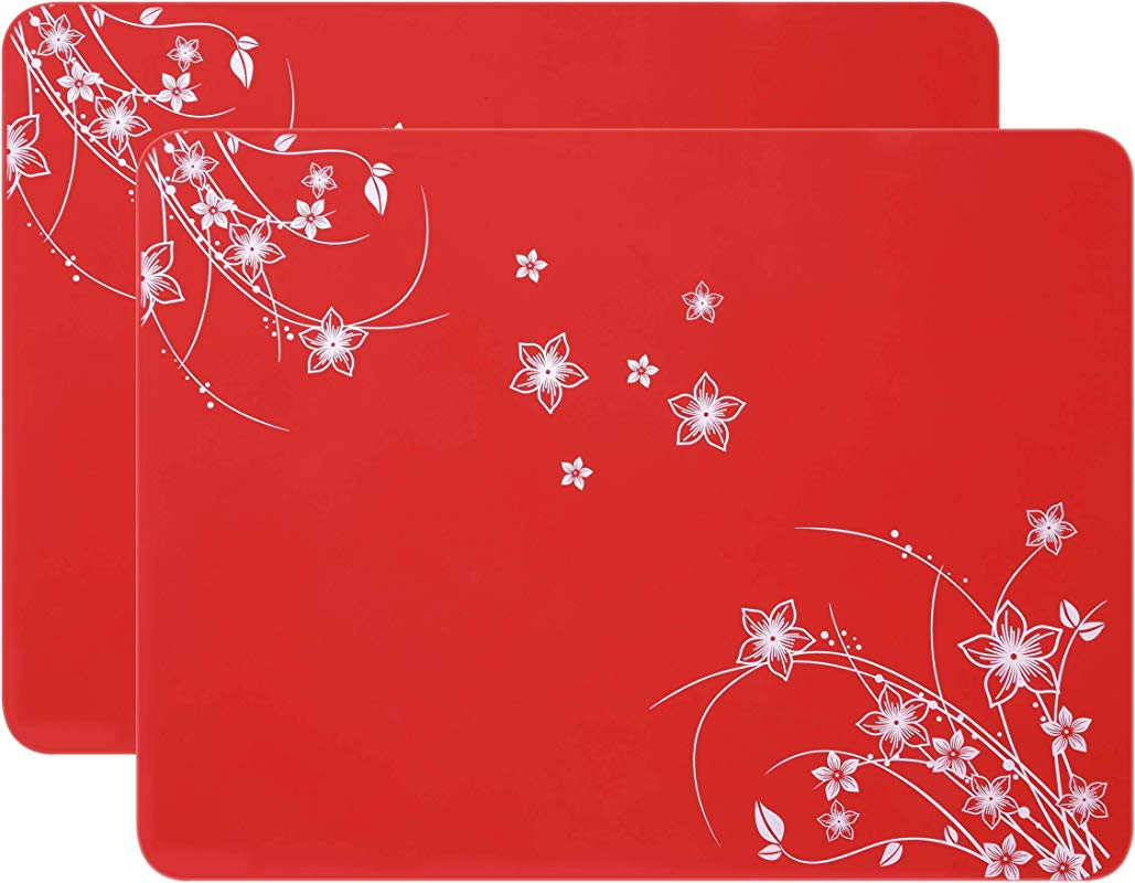 Multipurpose Silicone Placemats Kids Placemats Soft Silicone Tablemats Waterproof Nonstick And Nonskid Food Grade Insulation Hot Mats Pcs 2 Red