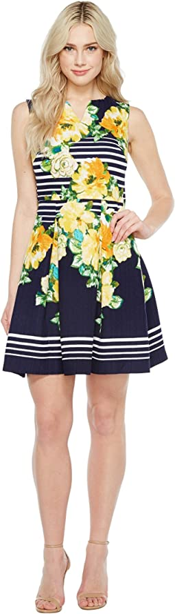 Christin Michaels - Florence Sleeveless Fit and Flare Dress