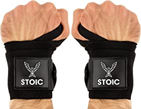 Stoic Wrist Wraps Weightlifting, Powerlifting, Cross Training, Bodybuilding with Thumb Loop. Professional Grade for Gym Wo...
