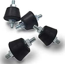 Anti Vibration Rubber Isolator Mounts with Studs Shock Absorber, M8-1.25
