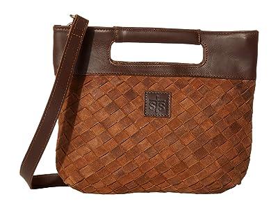 STS Ranchwear Basket Weave Flatrock Clutch (Brown) Handbags