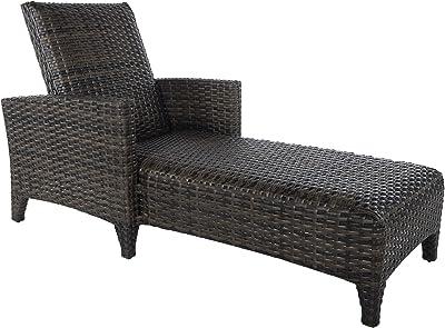 59ed1b7b9f1 Amazon.com  Tortuga Outdoor Garden Patio Lexington Chaise Lounge ...