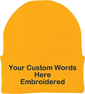 Customize Your Beanie Personalized with Your Own Text Embroidered