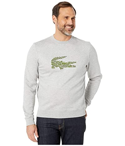 Lacoste Long Sleeve Brushed Molleton Sweater (Silver Chine) Men