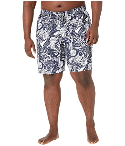Speedo Big Tall Etched Floral Redondo Volley 22 (Navy/White) Men