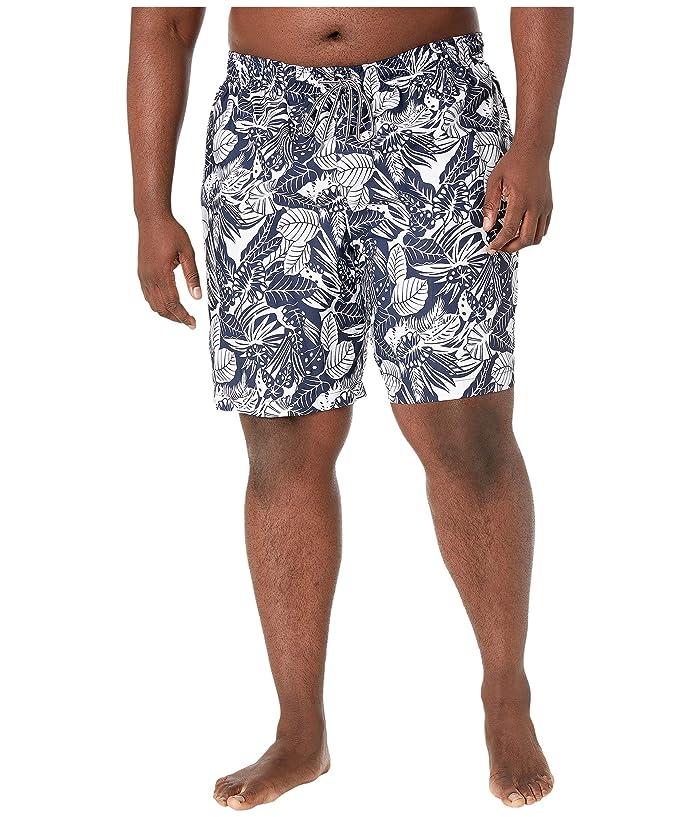 Speedo  Big Tall Etched Floral Redondo Volley 22 (Navy/White) Mens Swimwear