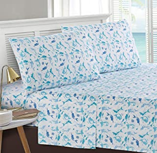 Seaside Resort Beach Themed Sheet Set, Pillowcase, Mermaid Dance