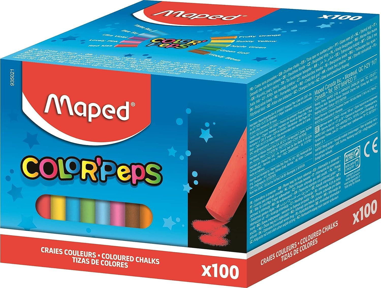 100 tizas de colores Maped por sólo 9,47€