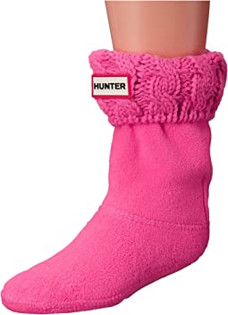 Hunter Kids - Original Kids' Half-Cardigan 6 Stitch Cable Boot Socks (Toddler/Little Kid/Big Kid)