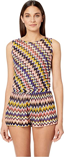Iconic Zigzag Jumpsuit Cover-Up