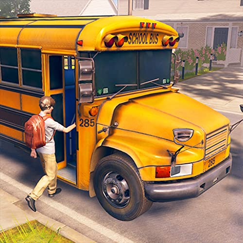 Simulador de conductor de autobús escolar de la ciudad moderna 3D