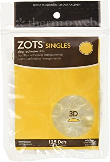 (1, White) - Therm O Web Zots Singles, 3-D