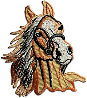 Salmón en color de caballos Pony Animales Zoo Patch Kids Baby 7 x 8.7 cm