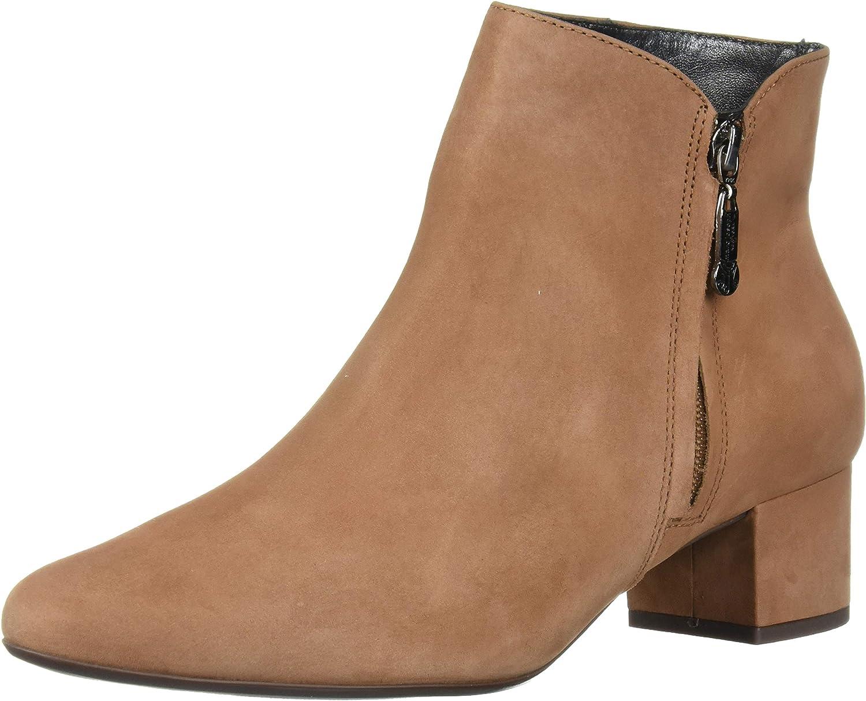 Marc Joseph New York Women's Leather Zipper quality assurance Heel with Excellent Block Deta
