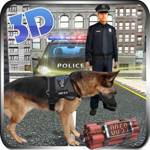 Polizei Rottweiler Hund Simulator 3D:: Cops gegen Räuber Gefängnis Ausbruch Gefängnis Flucht Überleben Mission Abenteuer Simulator Spiele für Kinder 2018