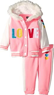 Limited Too Baby Girls 2 Piece Fleece Hoddie and Jogger Set