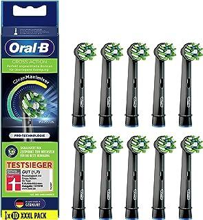 Oral-B CrossAction opzetborstels voor elektrische tandenborstel, 10 stuks, volledige mondreiniging met CleanMaximiser-bors...
