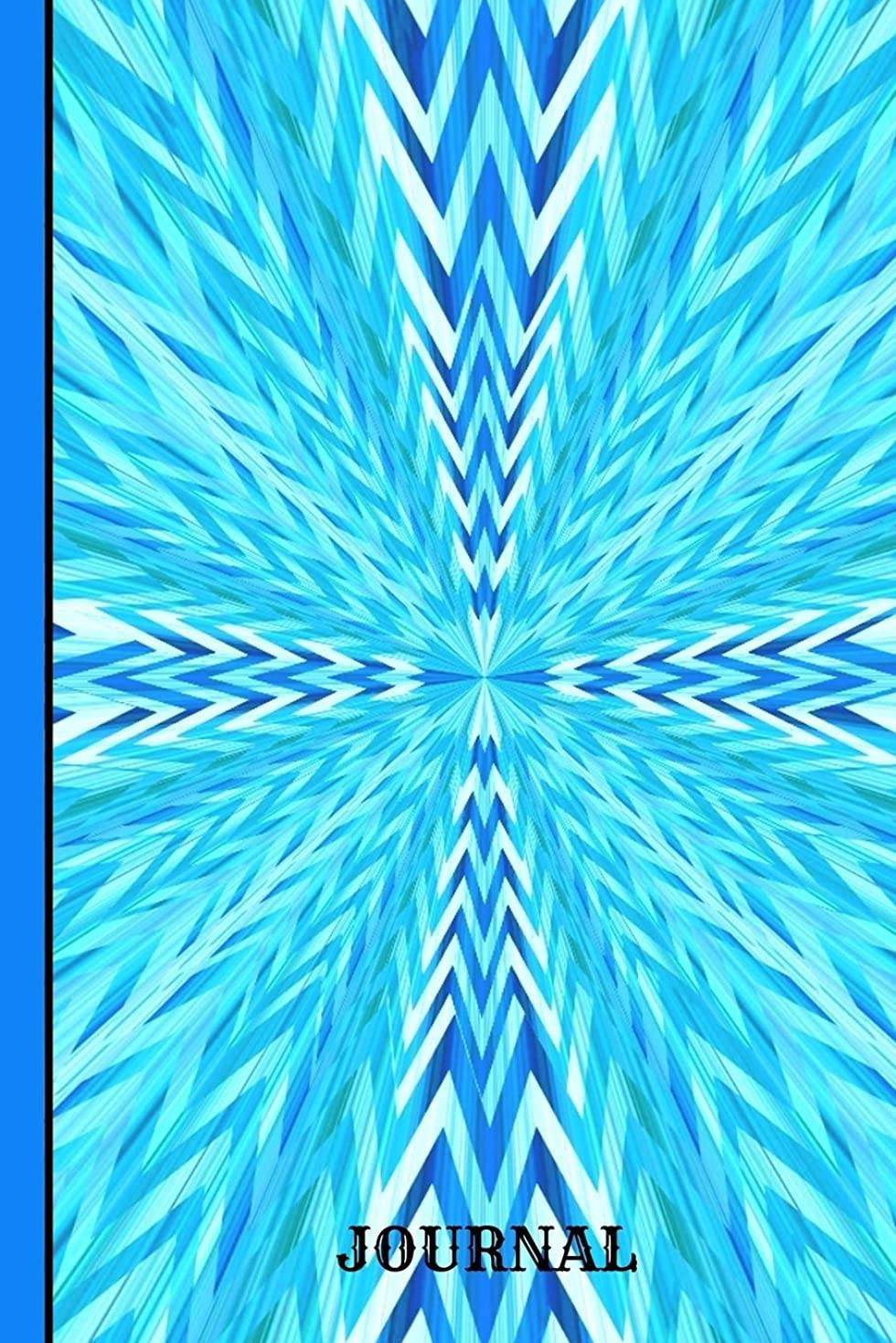 エスニック従順なタヒチJournal: Burst Of Blue Colors, Daily Writing Journal, Notebook Planner, Lined Paper, 100 Pages  (6