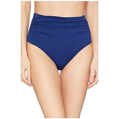 LAUREN Ralph Lauren Beach Club Solids High-Waist Bottom (Indigo) Women