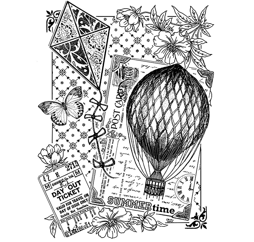 Crafty Individuals CI-386 Unmounted Rubber Stamp, Summertime