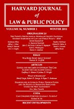 Harvard Journal of Law & Public Policy, Volume 34, Issue 1 (Pages 1 - 420)