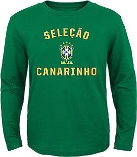 Brazil Adidas Youth Selecao Canarinho L/S Green Shirt