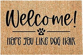 YLLQXI Welcome Mats for Front Door Outdoor, Dog Hair Coir Doormat Door Mats for Home Entrance Floor mat Coir Doormat for P...